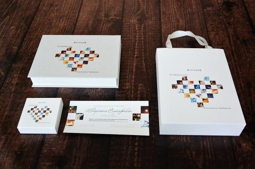 коробочка для флешки, пакет с логотипом, коробка для фотографий с логотипом
